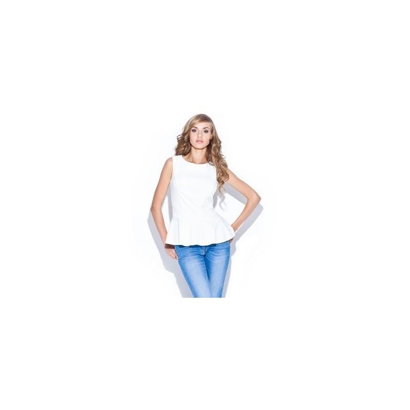 65ae675b9e0c Biela dámska blúzka bez rukávov - fashionday.eu