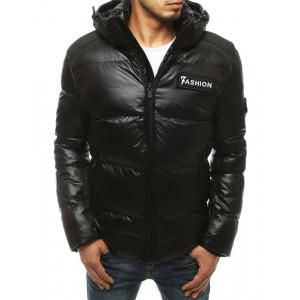 Prešívaná čierna pánska zimná bunda