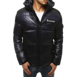 Tmavomodrá pánska zimná prešívaná bunda
