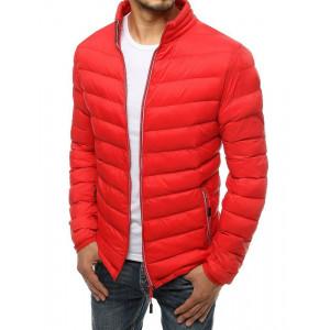 Pohodlná červená prechodná bunda