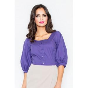 Dámska fialová košeľa s krátkym rukávom