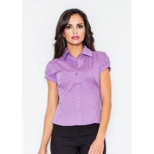 Dámska košeľa svetlo fialovej farby