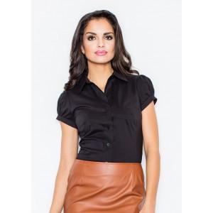 Dámska formálna košeľa čiernej farby