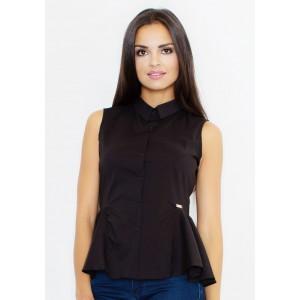 Dámska slávnostná košeľa čiernej farby