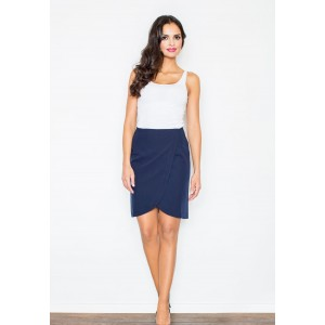 Dámska prekladaná sukňa modrej farby