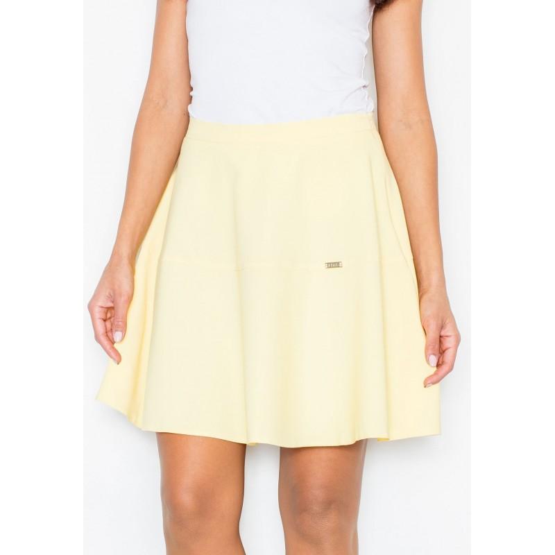 119ffb95fb Dámska áčková sukňa žltej farby - fashionday.eu