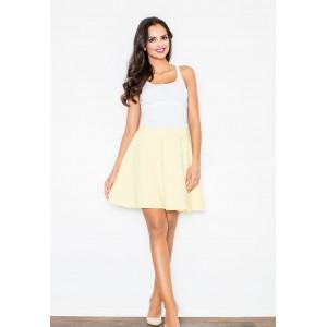 Dámska áčková sukňa žltej farby