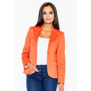 Dámske sako oranžovej farby