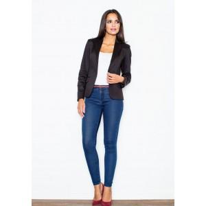 Dámske elegantné sako čiernej farby