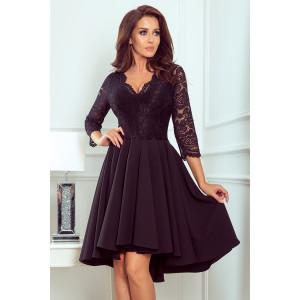 Dámske šaty áčkového strihu čiernej farby