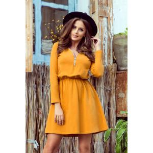 Dámske šaty horčicovej farby