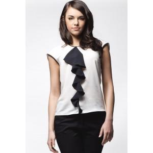 Elegantná bielo čierna dámska blúzka
