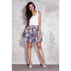 Dámska letná sukňa s kvetinovým vzorom