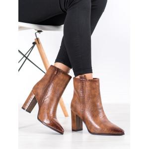 Dámske členkové topánky v odtieni béžovej a hnedej