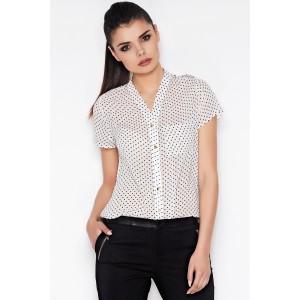 Dámska bodkovaná košeľa bielej farby