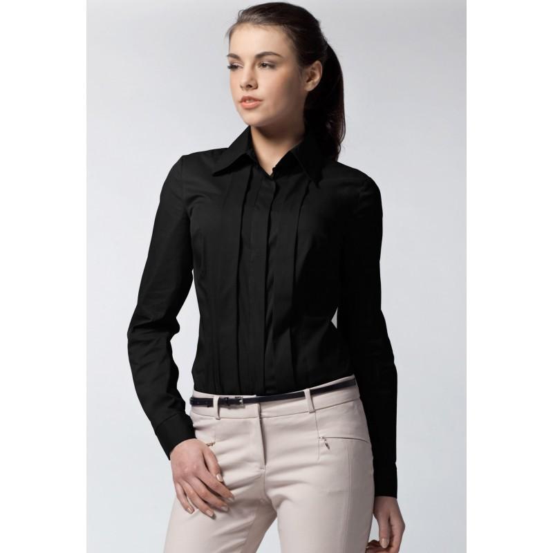 ca11e33a96c3 Elegantná dámska košeľa čiernej farby - fashionday.eu