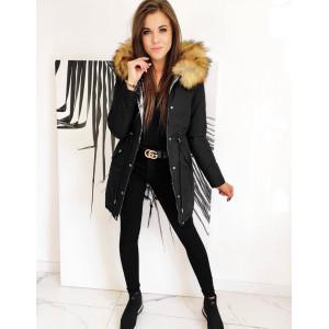 Čierno strieborná dámska obojstranná bunda RENEVI