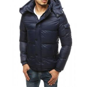 Pánska svetlosivá prešívaná bunda na zimu