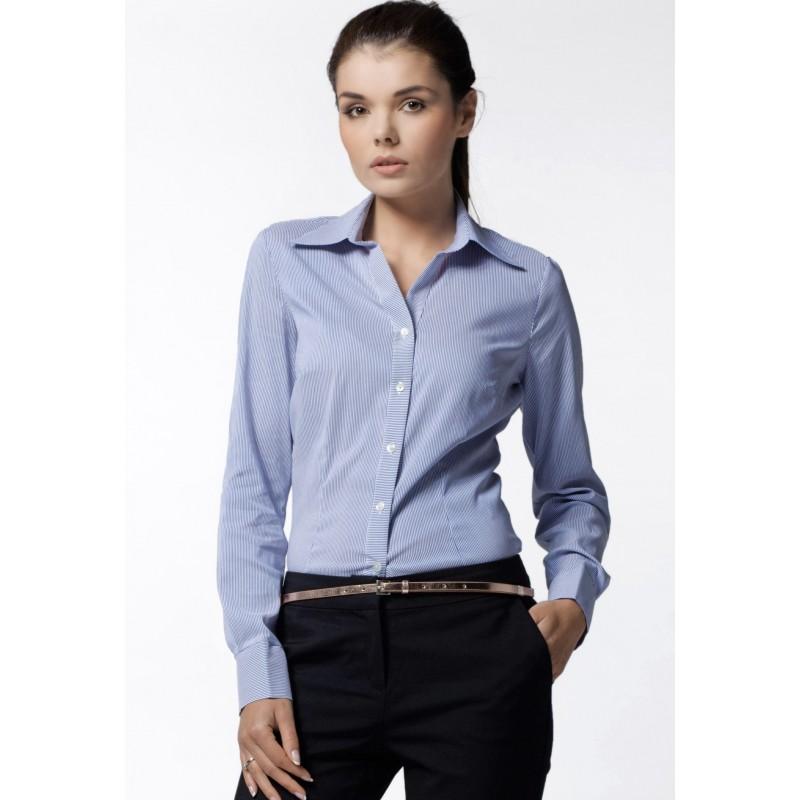 fb143e0178db Modrá pásikavá košeľa pre dámy - fashionday.eu