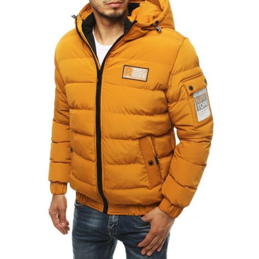 Originálna pánska žltá prešívaná zimná bunda