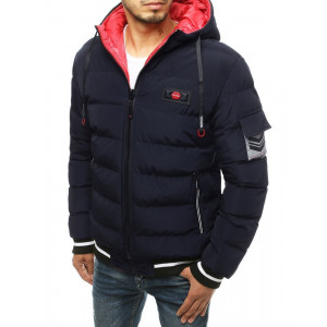 Pánska tmavomodrá obojstranná zimná bunda