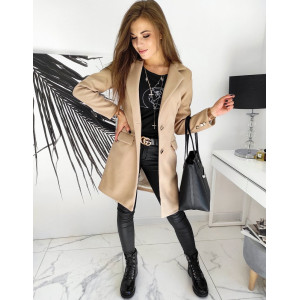 Dámsky neformálny béžový kabát