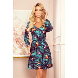 Krásne padavé farebné šaty