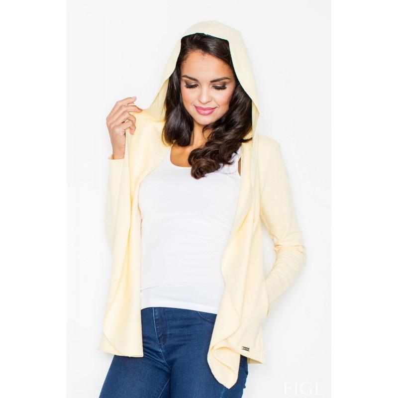 aff41c693fa48 Dámsky žltý sveter s kapucňou - fashionday.eu
