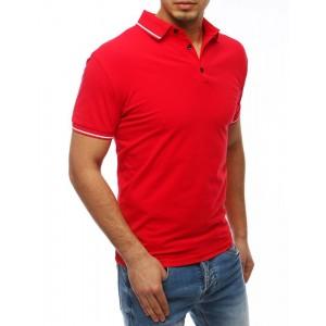 Štýlová pánska polokošeľa v červenej farbe VEĽKOSŤ XL