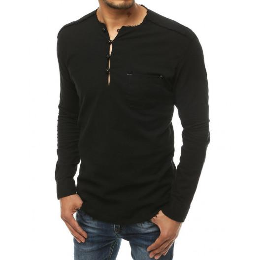 Štýlový pánsky nátelník čiernej farby v módno designe