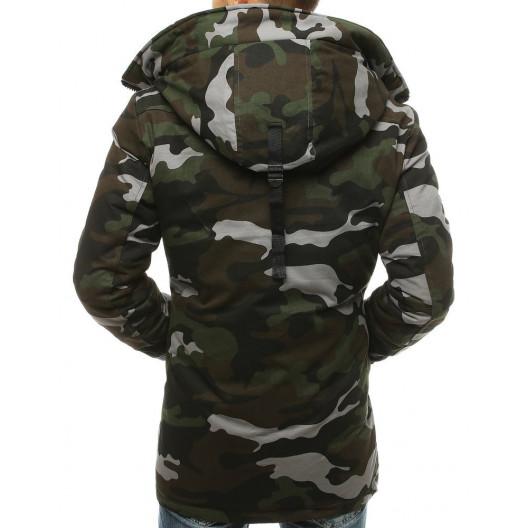 Štýlová pánska zimná army bunda s kapucňou