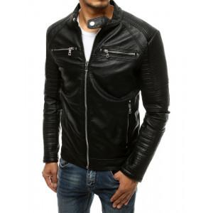 Originálna pánska čierna kožená bunda