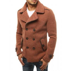 Štýlový pánsky kabát v krásnej tehlovej farbe