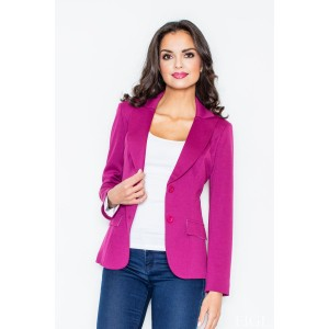 Dámske elegantné sako tmavo ružovej farby