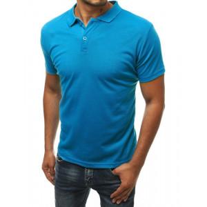 Pánska polokošeľa modrej farby s krátkym rukávom