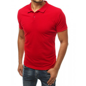 Pánska červená polokošeľa s krátkym rukávom