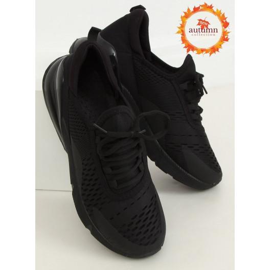 Dámske pohodlné tenisky čiernej farby