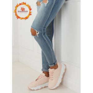Moderné dámske športové topánky ružovej farby