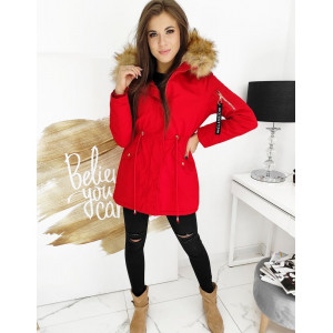 Luxusná dámska zimná bunda parka s bohatou kožušinovou kapucňou