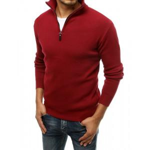 Elegantný pánsky sveter červenej farby