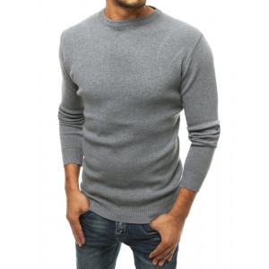 Elegantný pánsky sivý sveter cez hlavu
