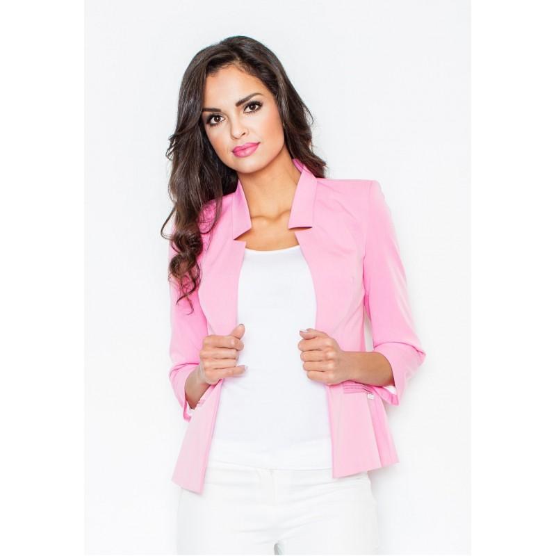 00fd206b6346 Dámske saká svetlo ružovej farby - fashionday.eu