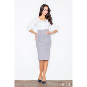 Dámska sukňa po kolená sivej farby