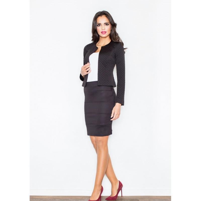 5cce76141afb Elegantná dámska sukňa s pruhmi v čiernej farbe - fashionday.eu