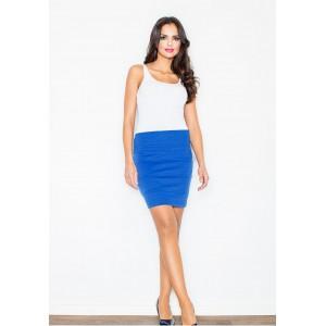 Modrá spoločenská dámska sukňa s pruhmi