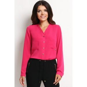 Ružová dámska košeľa s gombíkmi