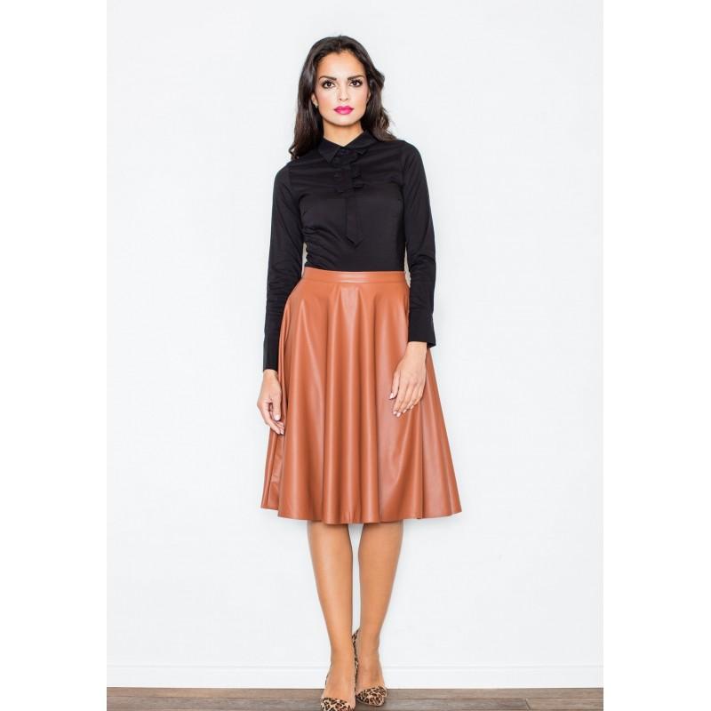 37f0accc8eb1 Dámska hnedá spoločenská sukňa - fashionday.eu