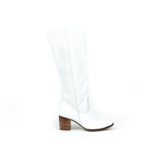 Biele dámske štýlove kožené topánky