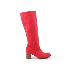 Kvalitné červené dámske topánky kožené