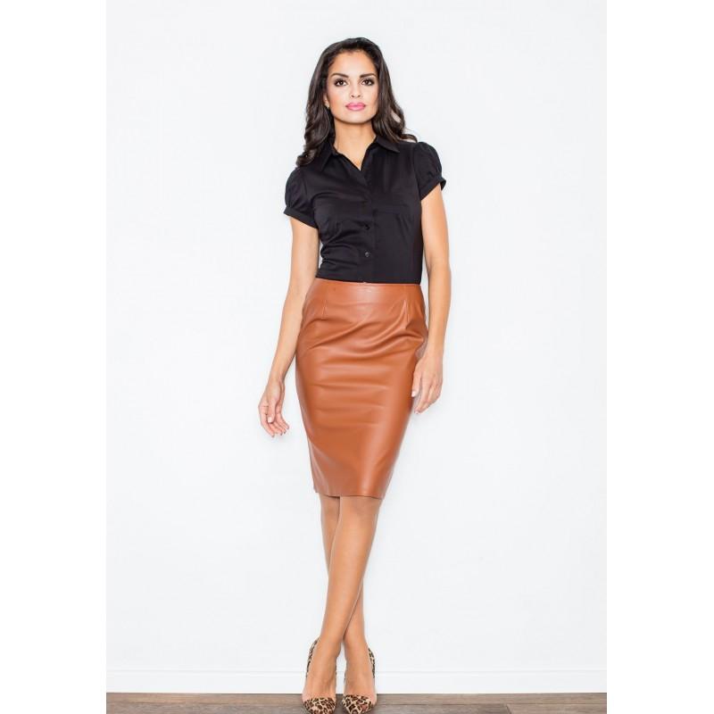 623323e5115c Formálna dámska sukňa hnedej farby - fashionday.eu